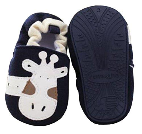 Baby Erste Wanderer Soft Sole Baumwolle Kleinkind Schuhe Blue Giraffe