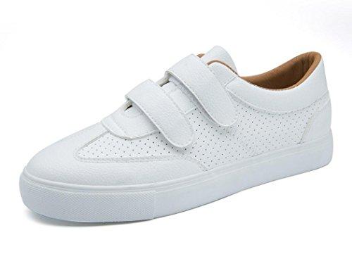 Movimiento Bottom 38 Compras Señora Pequeños Green Blancos BROWN Zapatos Retro Tres Zapatos Plano Cómodo XIE Colores PU Estudiantes 37 Escuela Ocio Rq0SCw