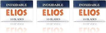 30 Cuchillas de afeitar Elios Inoxidable