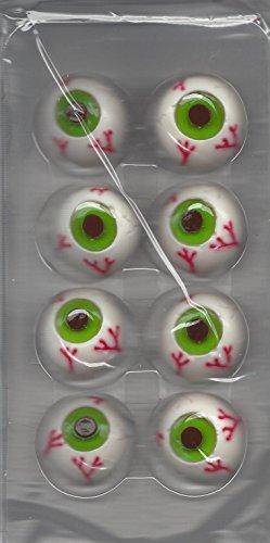 Halloween Gummy Cupcake Toppers (Eyeballs) (Eyeball Cupcakes Halloween)
