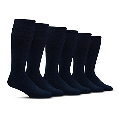 Men's Compression Socks (6-Pack) – L/XL – Navy - Graduated Muscle Support, Relief and Recovery. Great for Running, Medical, Athletic, Diabetic, Travel, Nursing (8-15 mmHg) by Pembrook