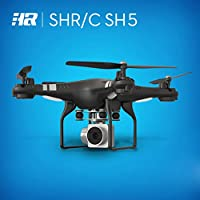 HR SH5HD Quadcopter WiFi FPV Live Video RC Drone Headless Mode with 170° Wide-Angle HD Camera (Black)