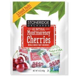 Stoneridge Orchards  Montmorency Cherries  Whole Dried Tart Cherries  5 Packs  1 Oz  28 G  Each