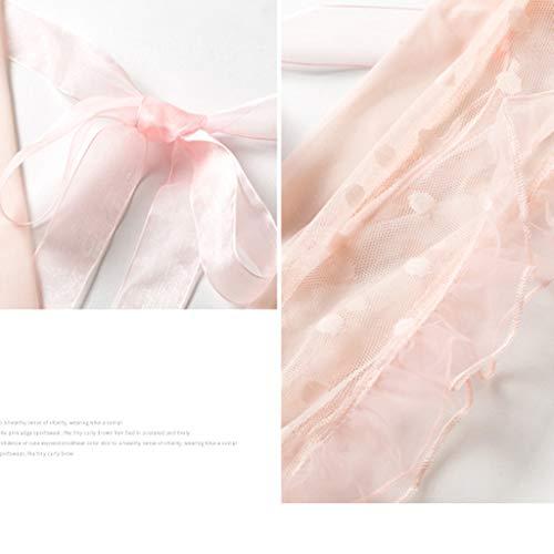 Colores Pink Perspectiva Conjunto Dos Maravilloso Camisones Escote Para La En V Opcionales Lencería Light Regalo Profundo Encaje De Corto Interior 2 Piezas Pijamas Ropa Halter Mujer Esposa Fzqpwg0F