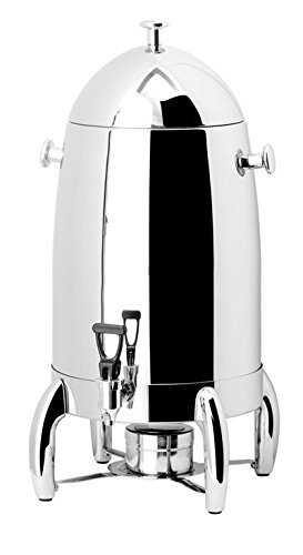PrestoWare PW-819, 20-Quart Deluxe Stainless Steel Coffee Urn with Chrome Legs for Catering Presto Ware