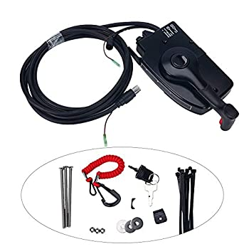 Image of Amarine Made 881170A3 Boat Motor Side Mount Remote Control Box with 8 Pin for Mercury Outboard Engine 8Pin Control Cables
