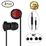 Earbuds, 2 Packs Noise Isolating Wired Heaphones In Ear Earphones with Mic and Remote Control Mental Stereo Headset for iPhone Samsung and More Android Smartphone, 3.9FT/Black Review