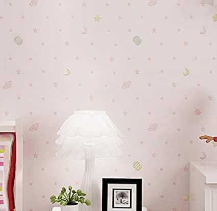 Ayzr Nonwoven Childrens Room Wallpaper Cartoons Sprinkled