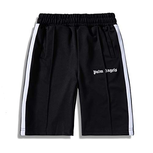 19SS Palm Angels Shorts Men 1:1 Retro Striped Casual Sports Shorts ()