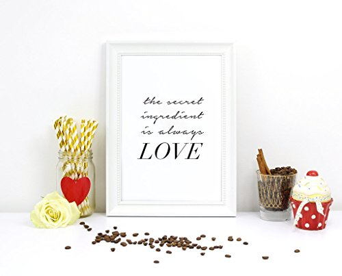 Love Print, The secret ingredient is always Love, Typography Poster, Love Wall Decor, Love