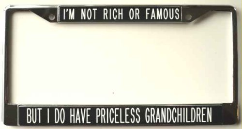 grandparents license plate frame - 9