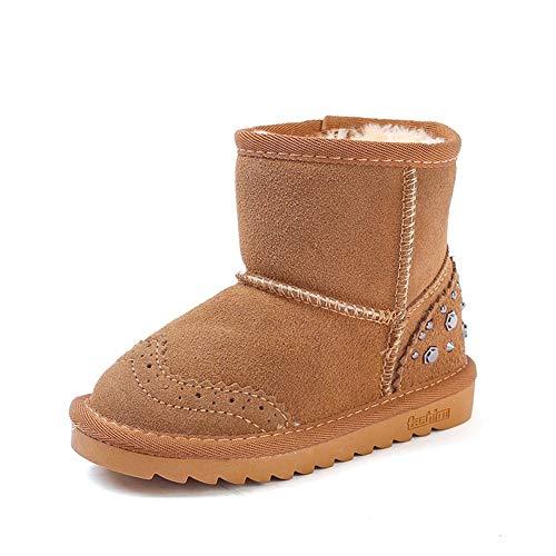 nbsp; nbsp; Ykfchdx nbsp;cotton nbsp; Brown nbsp;ragazze Snow nbsp; 25 Shoes nbsp; Bambini Per 29 nbsp; Yards nbsp;winter nbsp; nbsp;warm Boots nbsp; xqw0I7qvr