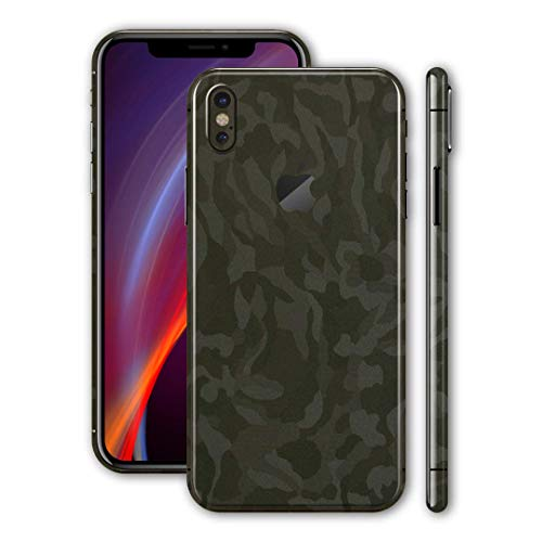 Bloom Skins for Apple iPhone X/iPhone 10 Luxury Camo Protective 3M Vinyl Skin Decal Wrap Film Premium Ultra Slim Cover Back Sticker with 3D Texture | Made in USA