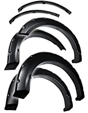 Tyger Auto TG-FF8F4168 For 2015-2017 Ford F150 | Paintable Smooth Matte Black Pocket Bolt-Riveted Style Fender Flare Set, 4 Piece | Incompatible with Technology Package 68T incl. lane-keeping sensors