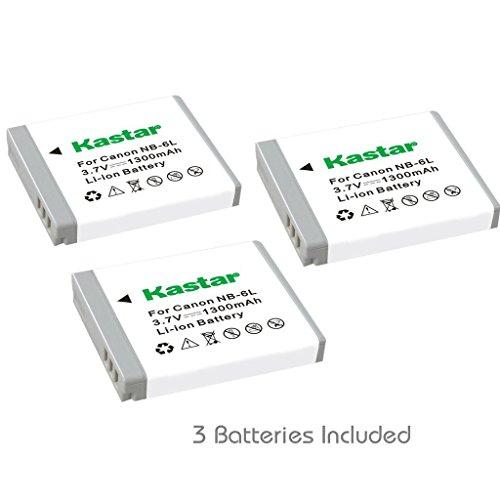 Kastar NB-6L Battery (3-Pack) for Canon PowerShot D10, D2...
