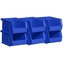 Akro-Mils 08212Blue 30210 Plastic Storage Stacking AkroBins for Craft and Hardware , Blue by Akro-Mils
