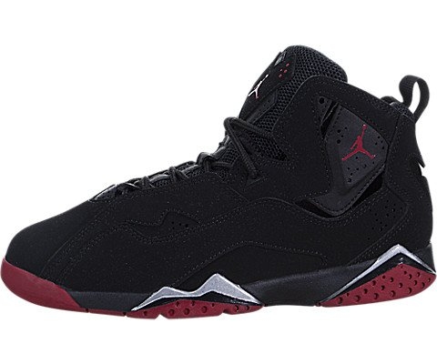 fec0e0702944 Nike Jordan Kids Jordan True Flight BP Black Gym Red Metallic Silver  Basketball Shoe 1.5