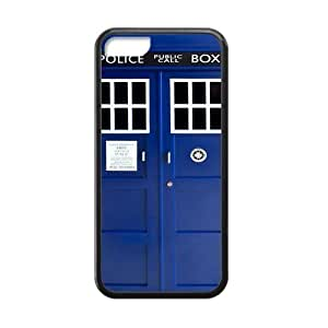 Doctor Who Tardis Police Call Box iPhone 5C TPU Silicone Case Cover Custom Personalized Blue Case at Big-dream WANGJING JINDA