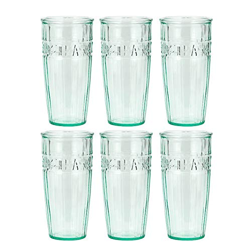 Clear Green Recycled Glass - Amici Home 7AJ725S6R Iced Tea Highball Drinking Glass 18 Fluid Ounces Clear Green Recycled