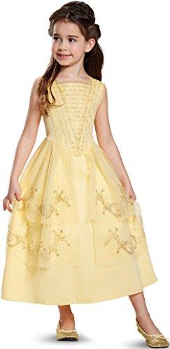 Disney Belle Ball Gown Classic Movie Costume, Yellow, Medium (7-8)
