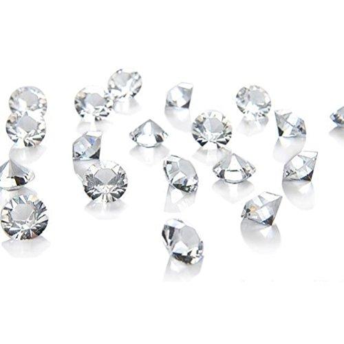 1000 diamantes claros para decoració n de mesa 6.5mm decoració n de la boda cristales / diamantes / confeti [ARTUROLUDWIG]