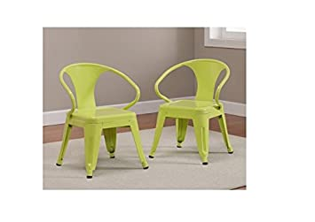 Kids Tabouret Stacking Chairs (Set Of 2) Limeade.