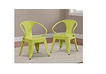 amazon com kids tabouret stacking chairs set of 2 limeade