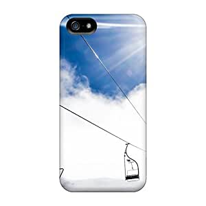 Durable Case For The Iphone 5/5s- Eco-friendly Retail Packaging(mountain Ropeway Ski Resort)