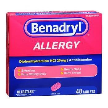 Benadryl Allergy Ultratab Tablets - 48 ct, Pack of 2