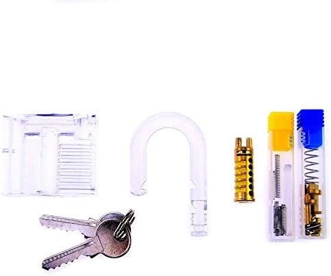 MN Transparent Lock//montiert transparent Vorh/ängeschloss//DIY Montage Lock//Puzzle Lock//Lock Werkzeug//Lock Set