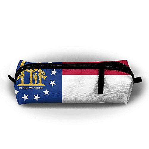 Flag Of Georgia Zipper Travel Cases Makeup Handbag Resistance Carrying Handle Cosmetic Hanging Bag Accessories Toiletries Pouch Power Lines Documents Bag