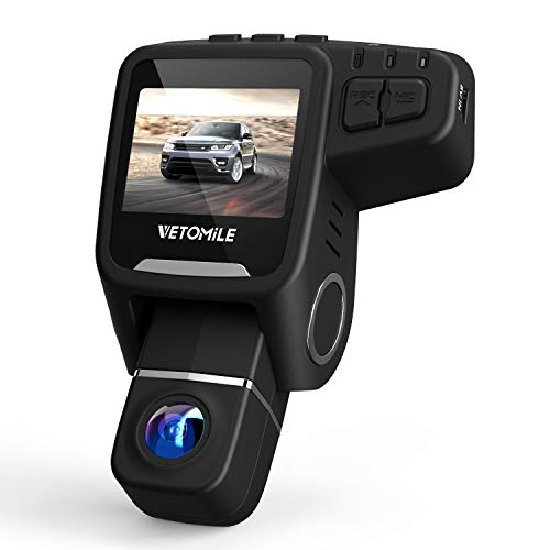 VETOMILE Dash Cam 1080P HD 170°Wide Angle Lens Car Dashboard Camera Recorder with GPS, Built-in WiFi, Loop Recording, G-Sensor, Night Vision