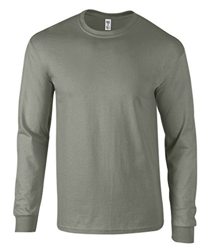 (Have It Tall Men's Long Sleeve T Shirt Premium Ringspun Cotton Made in USA Gray Large Tall)