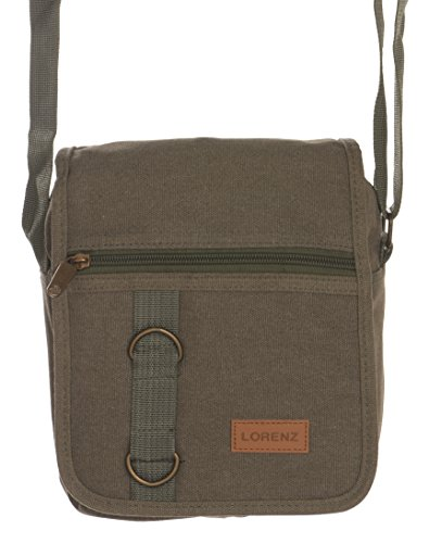 Work Travel Unisex Grey Style Black Green Bag Khaki Messenger' Canvas Green Shoulder 'Small Brown q5dwFd1