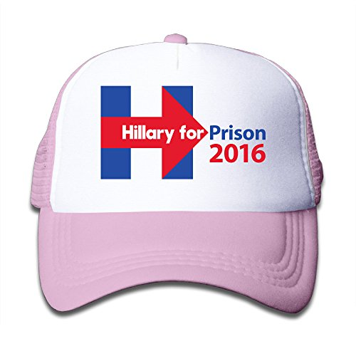 girl-hillary-clinton-for-prison-2016-adjustable-snapback-trucker-hat-pink-one-size