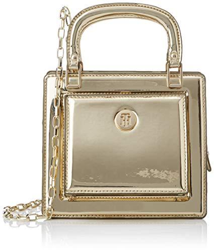 Tommy Hilfiger - Th Fashion Crossover Metallic, Bolsos bandolera Mujer, Dorado (Gold), 8.5x16.7x18.8 cm (W x H L)