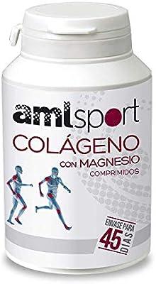 AMLsport - Colágeno con magnesio – 270 comprimidos articulaciones fuertes. Regenerador de tejidos con colágeno hidrolizado tipo 1 y tipo 2. Envase para 45 días de tratamiento.: Amazon.es: Deportes y aire libre