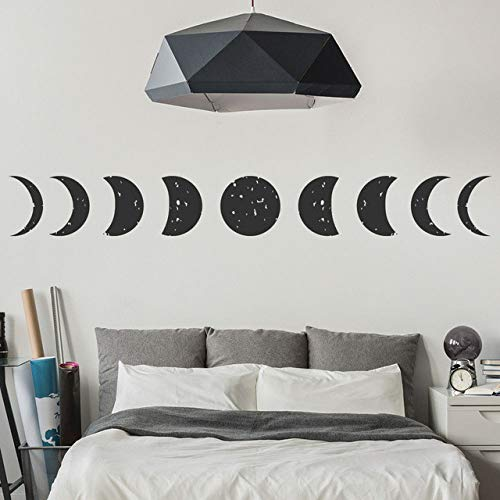 my fell Moon Planets and Space Wall Stickers All Phases Wallpaper Home Decor Art Decals Wall Tattoo SA339 (Tattoo Wall Paper)
