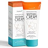 Whitening Cream for Armpits, Intimate Parts, Between Legs - with Collagen - Effective Lightening Cream - Brightens,...