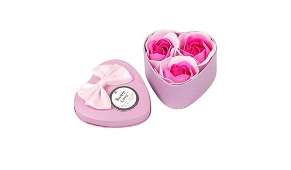 Intelligent 3pcs Lovely Heart Shape Flower Soap Bath Body Rose Petal Soap Wedding Decoration Women Girl Date Romantic Gift Cleansers