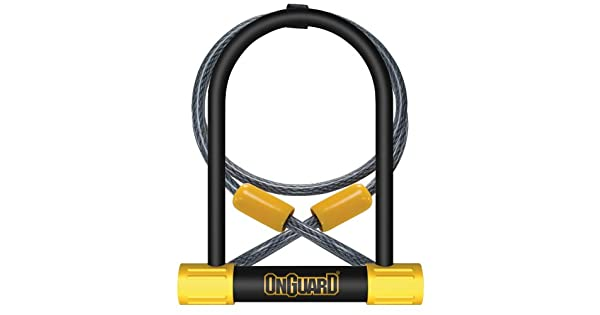 Amazon.com: Onguard Bulldog DT U-Lock con 4-inch Cinch Loop ...