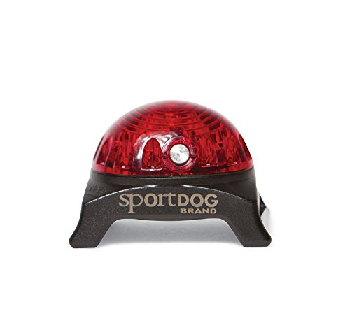 SportDOG Brand Locator Beacon - Bright, Waterproof Dog Collar Light with Carabiner - Flashing or Solid Safety Light can be Used for Night Walking, Jogging, Camping, Hunting, or Hiking ()
