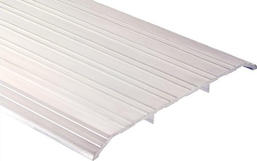 Pemko Aluminum Fluted Saddle Threshold, Mill Finish, 8''W x 36''L x 1/2''H