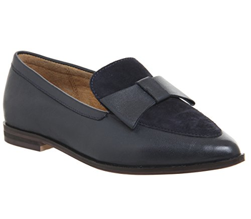 Flaunt Leather Bow Navy Flats Point Office q0vgPx1v