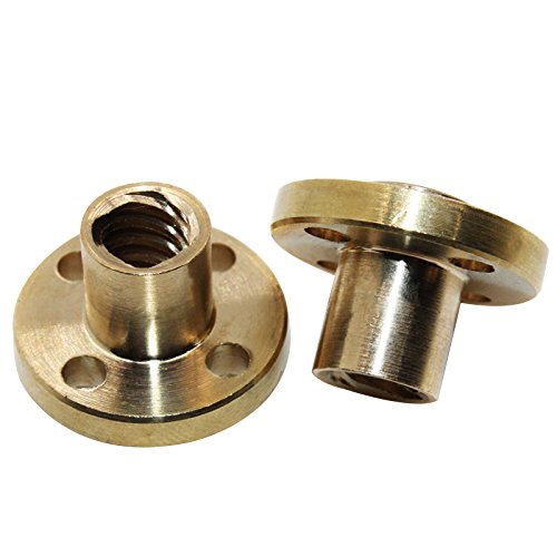 2pcs of Brass Screw Nut For 8mm T8 Lead Threaded Rod CNC Linear Rail 3D Printer Reprap Parts Z Axis