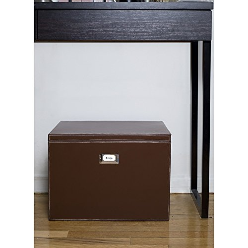 g u s decorative office file and portable storage box for hanging folders letter or legal. Black Bedroom Furniture Sets. Home Design Ideas