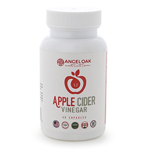 Extra Strength Apple Cider Vinegar Pills - Made from Pure, Raw, Organic ACV - 600mg Capsules for All Natural Weight Loss, Digestion, Detox and Cleanse - 60 Tablet Supply - Non GMO, Vegan Supplements