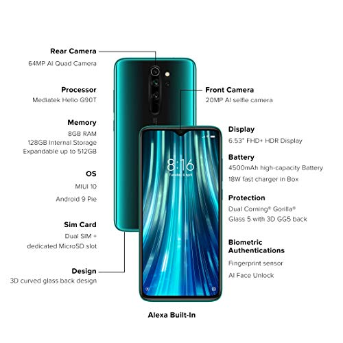 Redmi Note 8 Pro (Gamma Green, 6GB RAM, 64GB Storage with Helio G90T Processor) 2