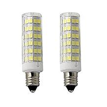 HBGD E11 Base 50W Light Bulb, LED Mini Candelabra Bulb,Daylight,JD T4 bulb,120 volt,550LM,Clear Light Bulb (Pack of 2)