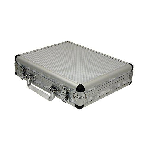 SRA Cases EN-AC-FG-A036 Silver Aluminum Hard Case, 11 x 8.8 x 2.5 Inches